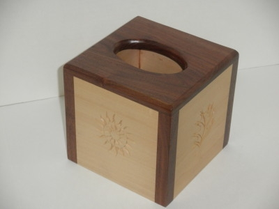 Tissue Box with Carvings - Dec 2011