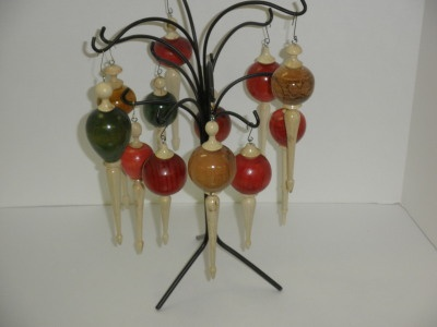 Dyed Ornaments with Holly finials - Dec 2011