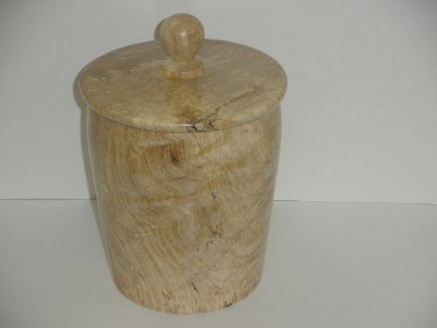 Spalted Maple Canister #1 -  Dec 2011