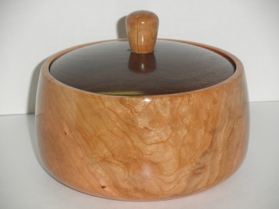 Cherry and Walnut Lidded Bowl - Jan 2012