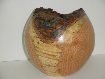 Oak Natural Edge Vase - Jan 2012