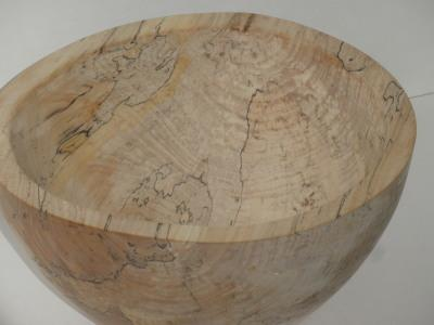 Ten Inch Spalted Maple Bowl - March 2012
