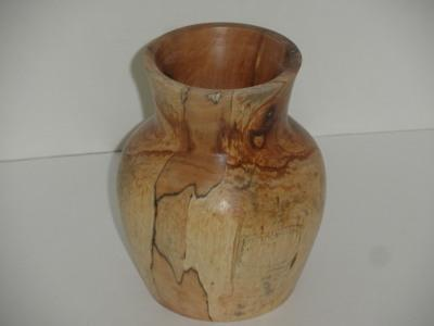 Spalted Peach Vase - March 2012
