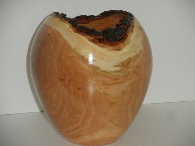 Cherry Natural Edge Vase - Feb 2012