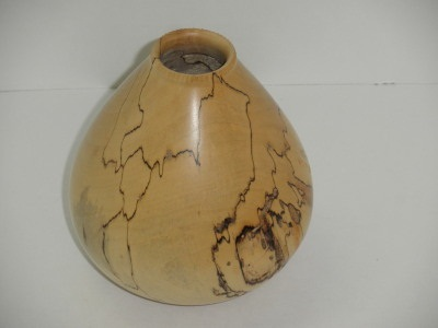 Spalted and Fluted Maple Vase - April 2012