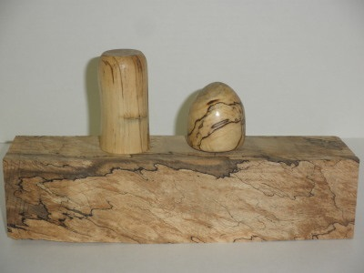 Wine Stoppers from mystery wood shown - October 2012