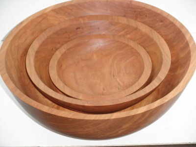 Large Salad Bowl Set Turned From One Block - July 2012