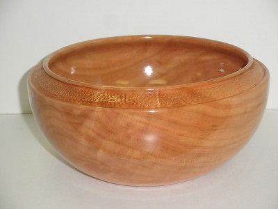 Twelve Inch Cherry Salad Bowl W/ Carving - July 2012