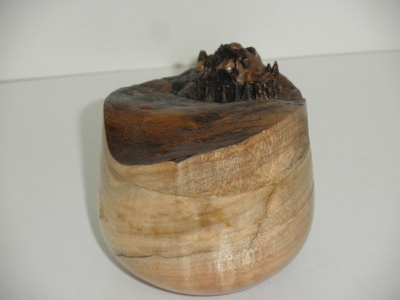 Round Box with Natural Edge Lid…Maple - Nov 2012