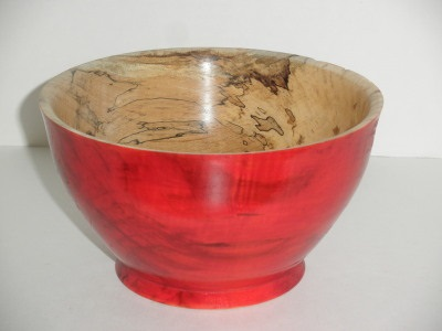 Spalted Maple Bowl…outside dyed - Oct 2012
