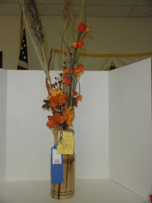 Dogwood Vase Flower Arrangement - won first place in Hickman County Fair - Oct 2012